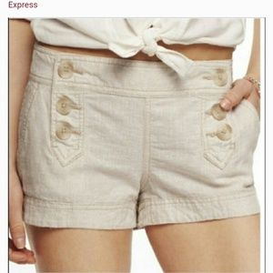 Express linen sailor shorts